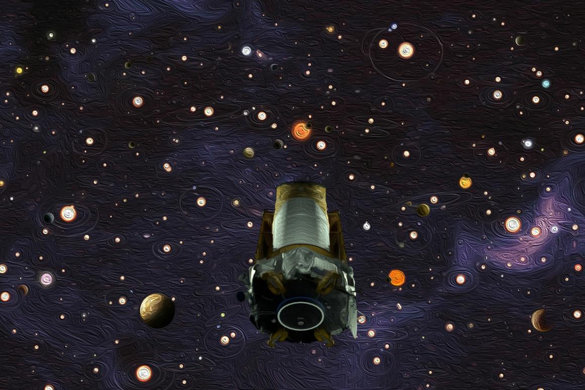Artist's impression of the Kepler Space Telescope