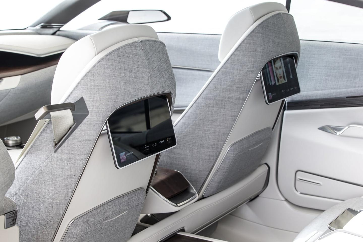 The cabin of the Cadillac Escala rather than more conventional materials