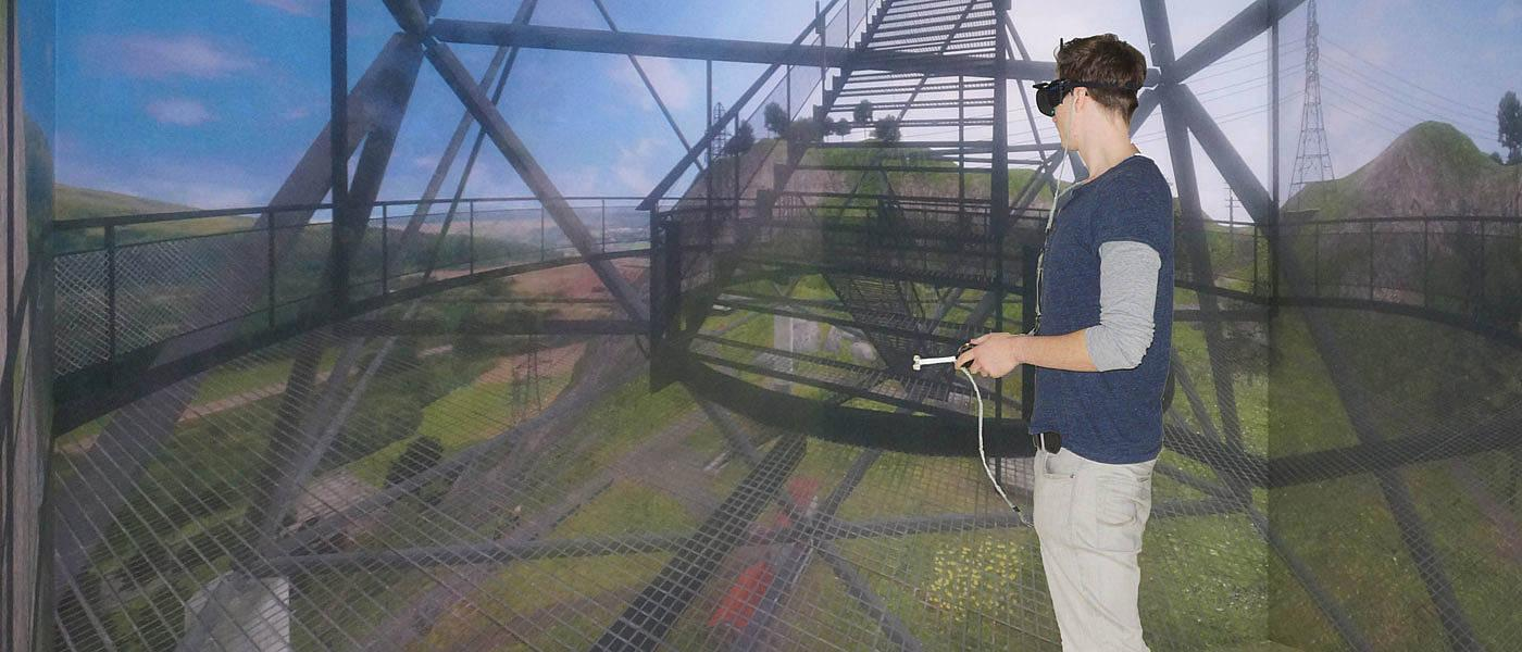 Even though the subject knows it is fake, exposure to great heights in a virtual reality headset still triggers an anxiety response in sufferers