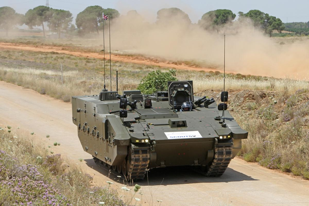 Scout SV PMRS variant in mobility demonstration (Image: General Dynamics)