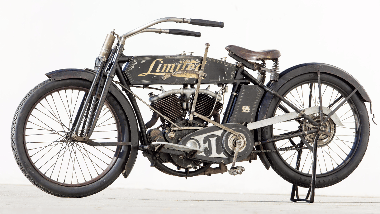 The top seller at Bonhams' Las Vegas auction this year could have gone to any number of motorcycles, but in the end none of the fancied bikes met reserve and this 1130cc 1914 Feilbach Limited Twin took the honours. The 1914 Feilbach sold for $195,000