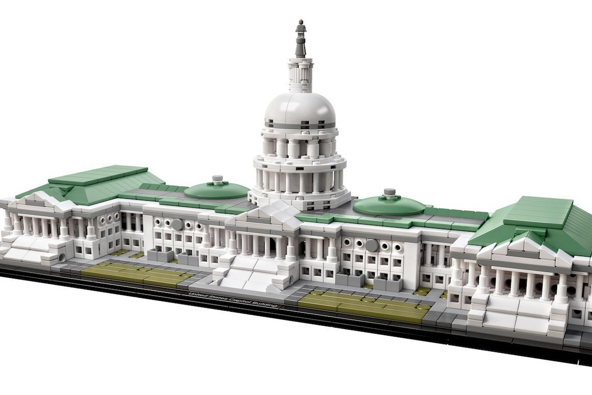 The U.S. Capitol Lego set includes over 1,000 pieces
