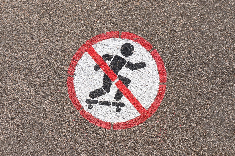 No skateboards