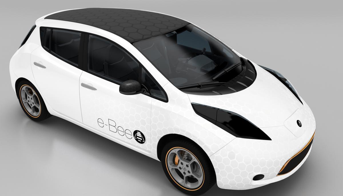 The Nissan Leaf-based e-Bee concept car