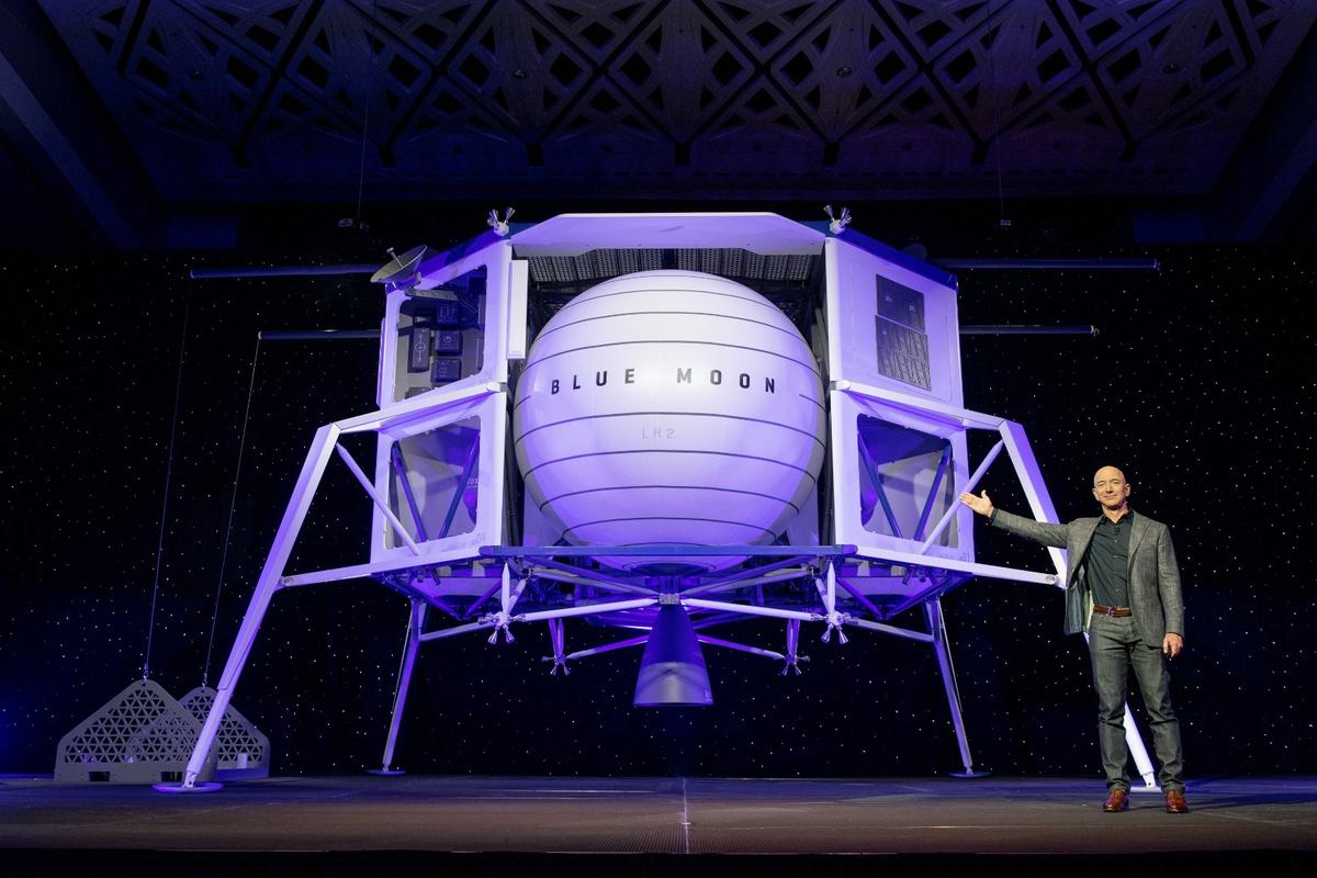 Jeff Bezos unveiled Blue Moon in Washington DC, along with the incredibly ambitious goal of the company: to help enable nothing less than the eventual building of orbital space colonies
