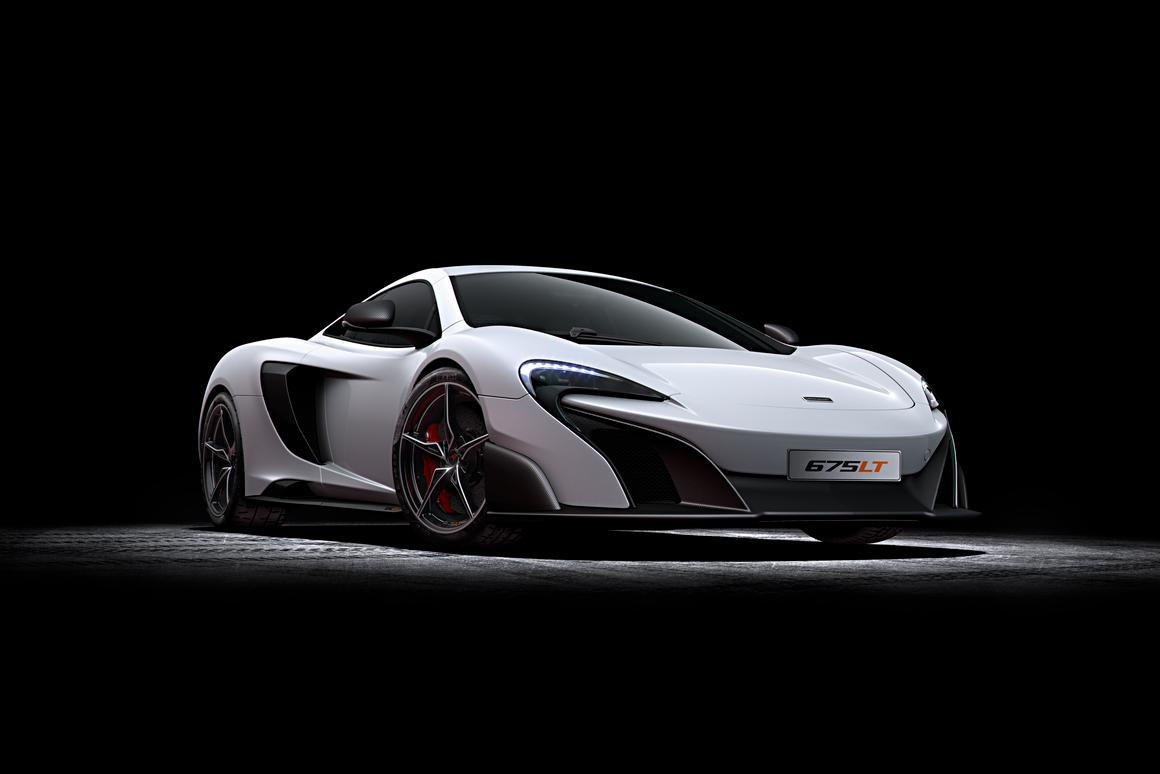The McLaren 675LT, Woking's latest superlative track car that will debut at the 2015 Geneva Motor Show