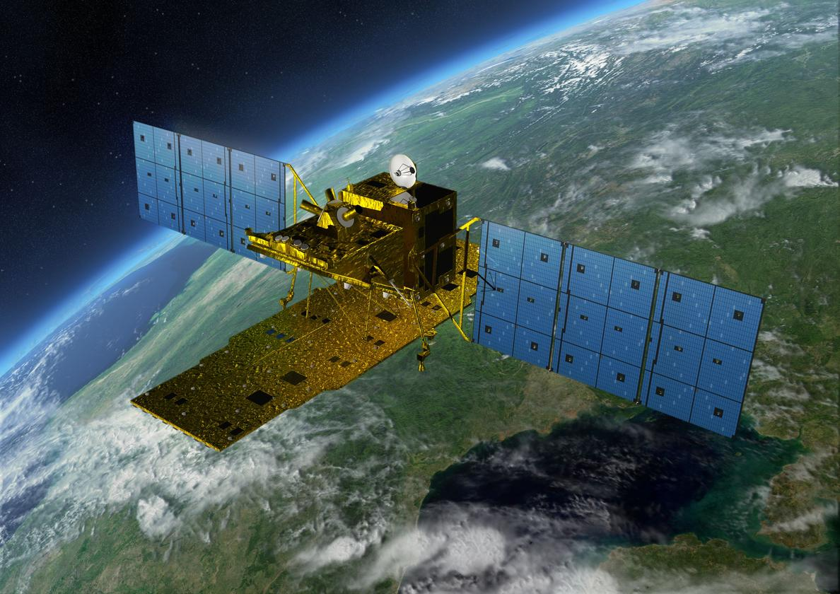 Is space-based solar power the answer to our energy needs? JAXA envisions solar satellites that would spin in synchrony with the Earth, like the Advanced Land Observing Satellite pictured here (Image: JAXA)