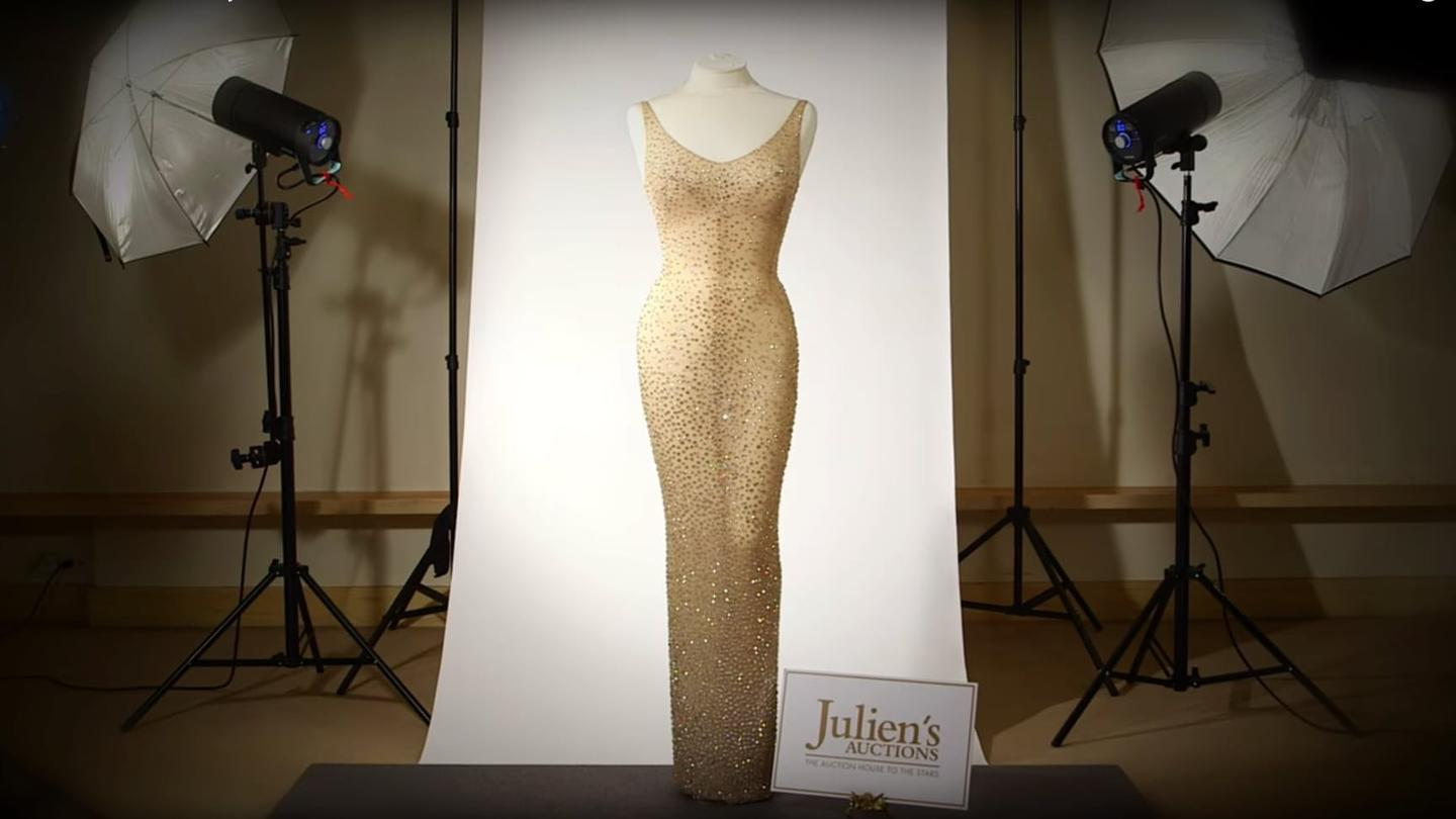 """Can Marilyn Monroe's """"Happy Birthday Mr President"""" dressbecome the most expensive piece of clothing in history a second time?"""