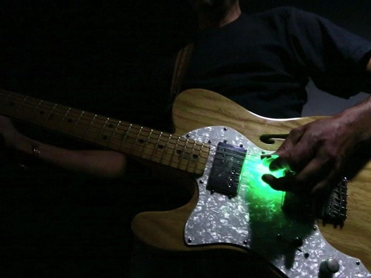 The Firefly Pick provides a rhythmic light show to go with your flashy playing