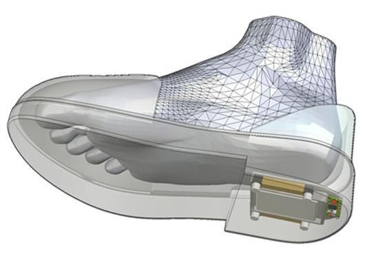 The GPS Shoes embed GPS technology in the sole of the shoe