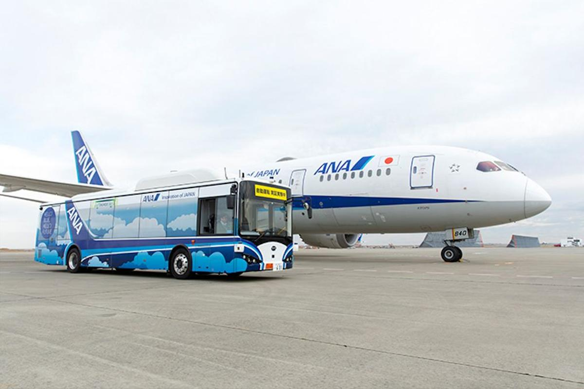 All Nippon Airways is hoping to put the autonomous electric bus to work by the end of 2020, pending a successful trial outcome