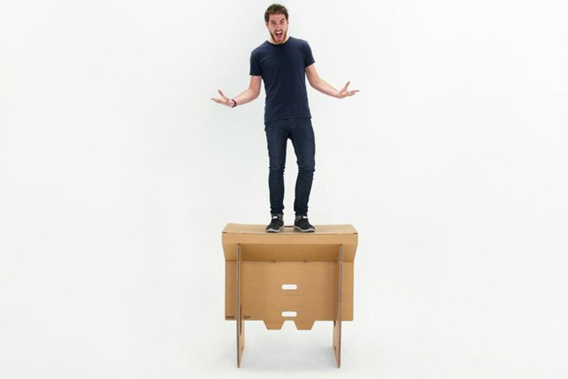 Refold has created a portable cardboard standing desk