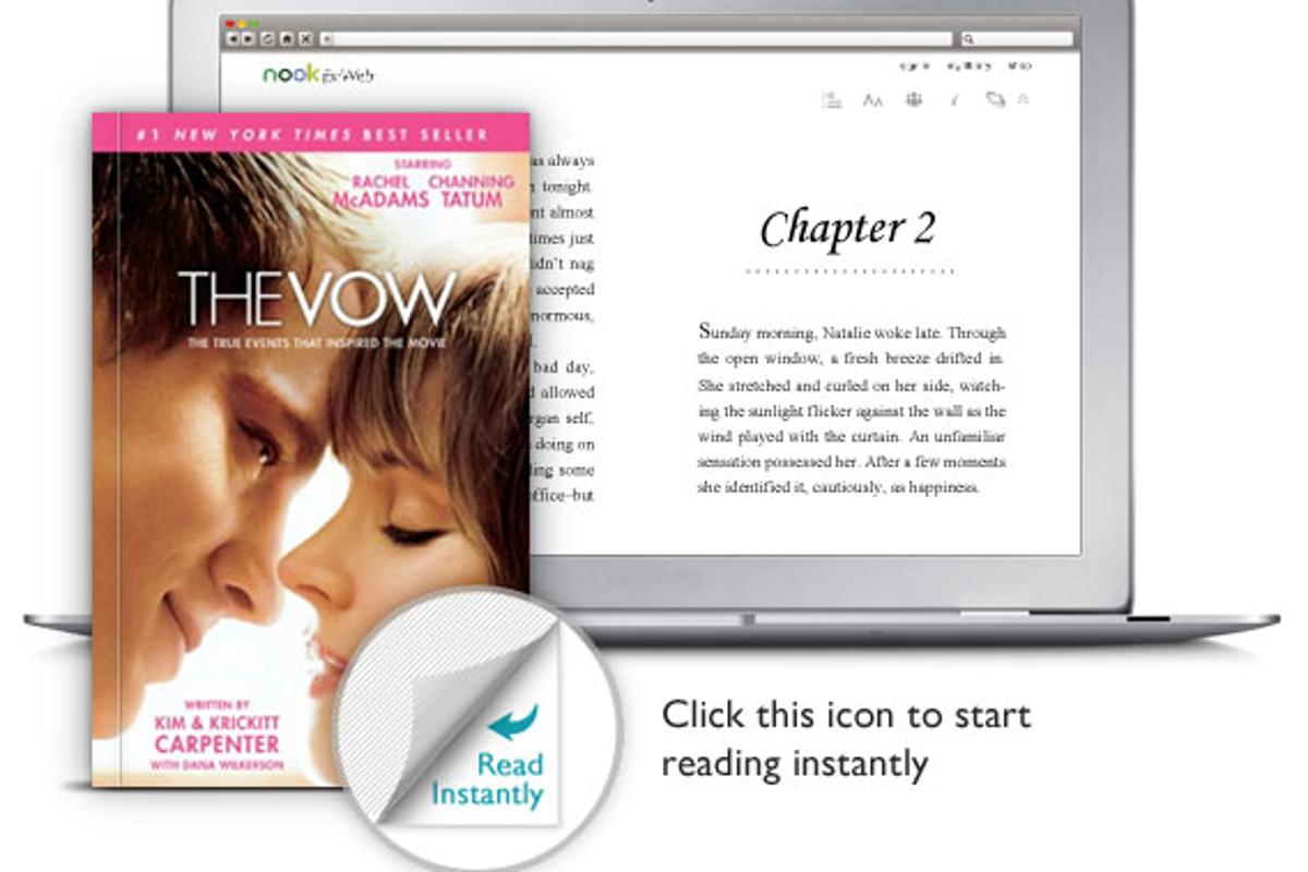 Nook for Web on a laptop