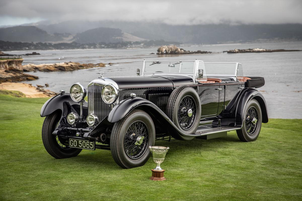 The Best of Show award at the Pebble Beach Concours d'Elegance in 2019 went to the 1931 Bentley 8 Litre Gurney Nutting Sports Tourer of Sir Michael Kadoorie of Hong Kong, founder of The Quail, and Peninsula Classics Best of the Best award.