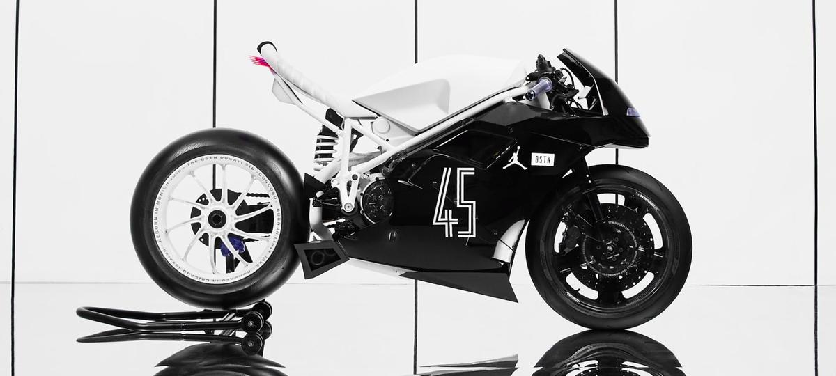BSTN's custom Ducati 916, designed to celebrate the new Jordan shoes, and MJ's love for motorcycles