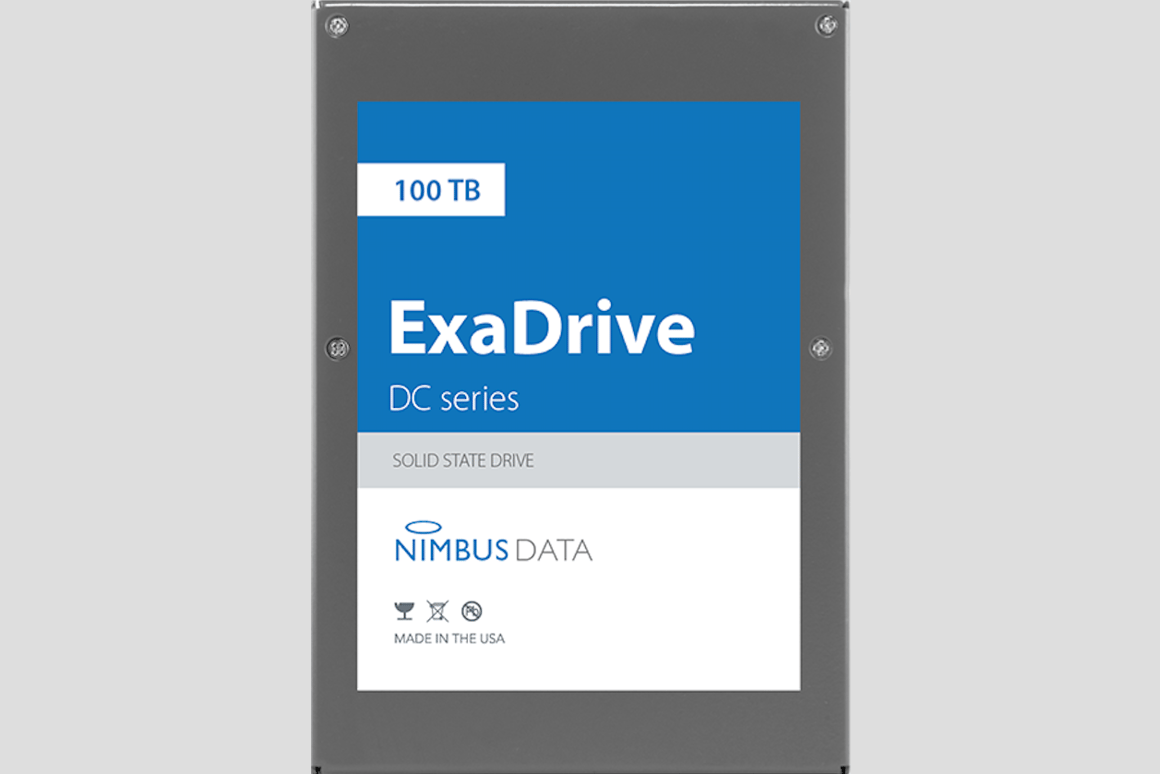 photos officielles 5a2fc fb8e2 Nimbus Data launches world's largest SSD with 100 terabyte ...