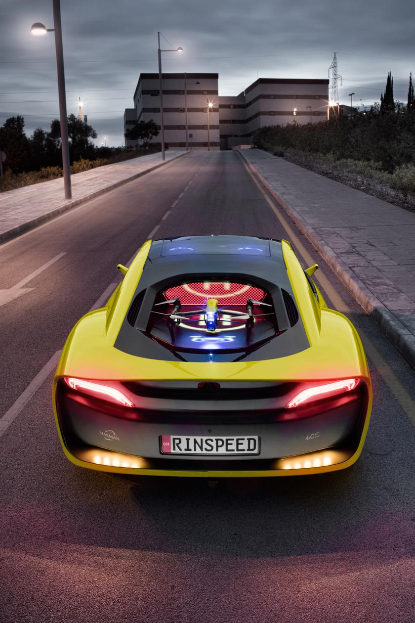 Rinspeed turns BMW's i8 into the self-driving, drone-docking