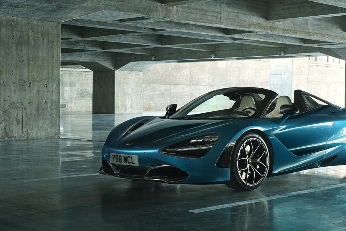 McLaren 720S Spider: extreme performance figures include a 202 mph top speed with the roof open