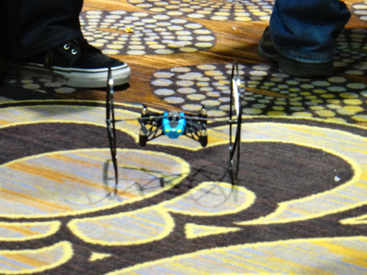 Watching the demonstrations from Parrot reps, the two bots appear easy to control, but could take some practice to pull off their more impressive maneuvers