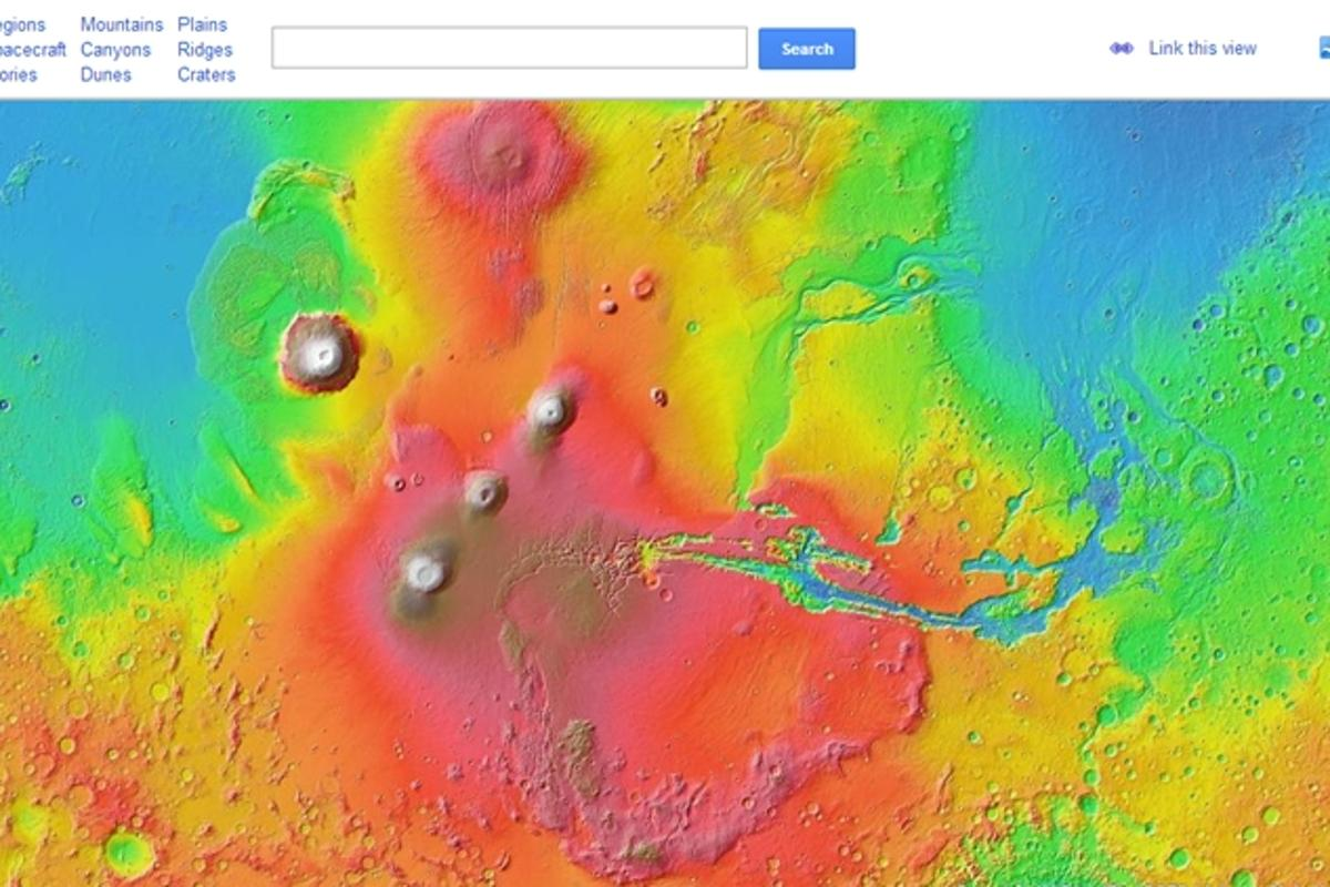 Google Mars allows users to explore the Red Planet