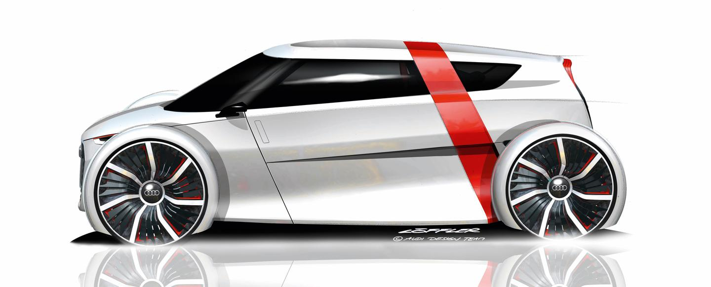 The Audi urban concept features free-standing wheels