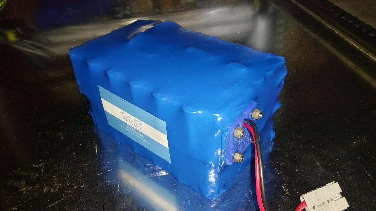 The new 88v Li-Mn Blue Line battery used in the Mark 5 Super