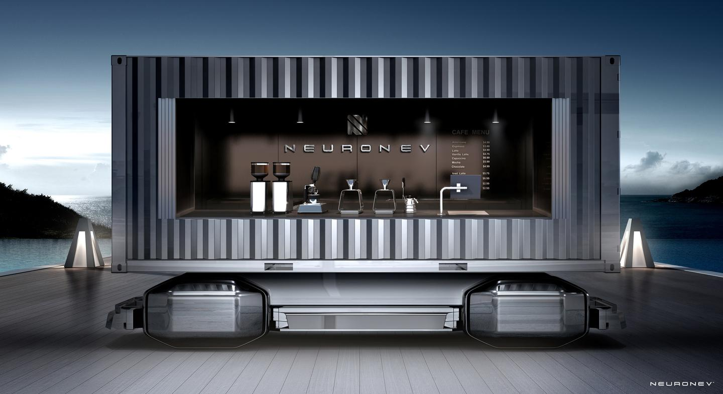 A coffee cart or food truck is a natural use for Neuron's Multipurpose Autonomous Platform (MAP)