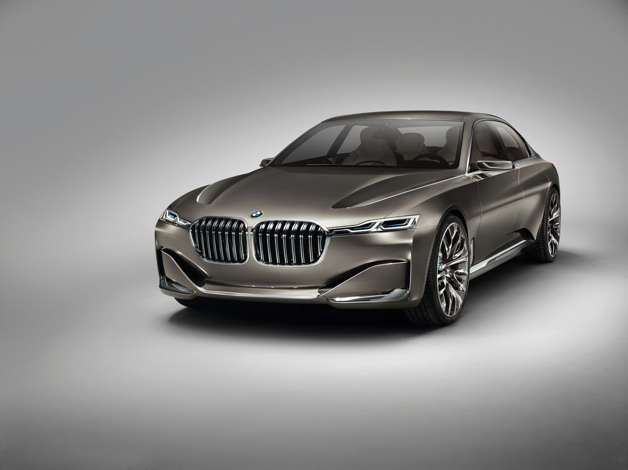 The front-end is defined by a large kidney grille, laser headlamps and aerodynamic treatments