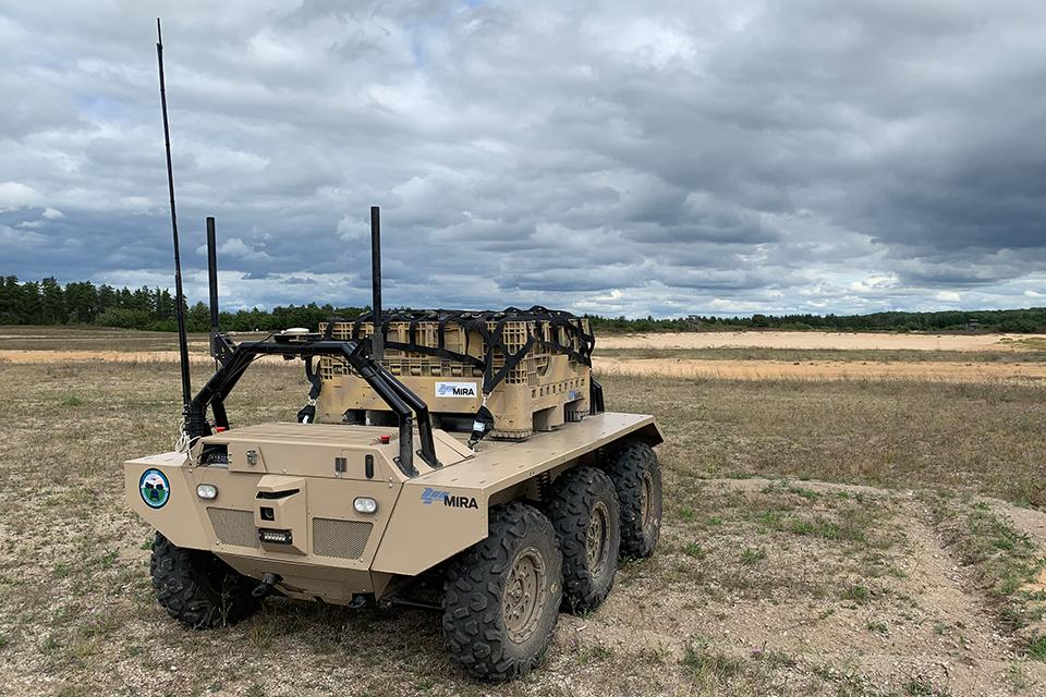 The test involved a series of robotic US and UK vehicles such as the latest MIRA VIKING 6x6 Unmanned Ground Vehicle (UGV)