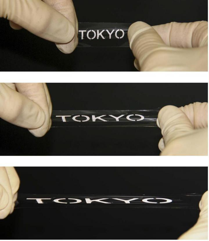 The printed elastic conductor exhibited very high conductivity even when stretched to more than three times its original length