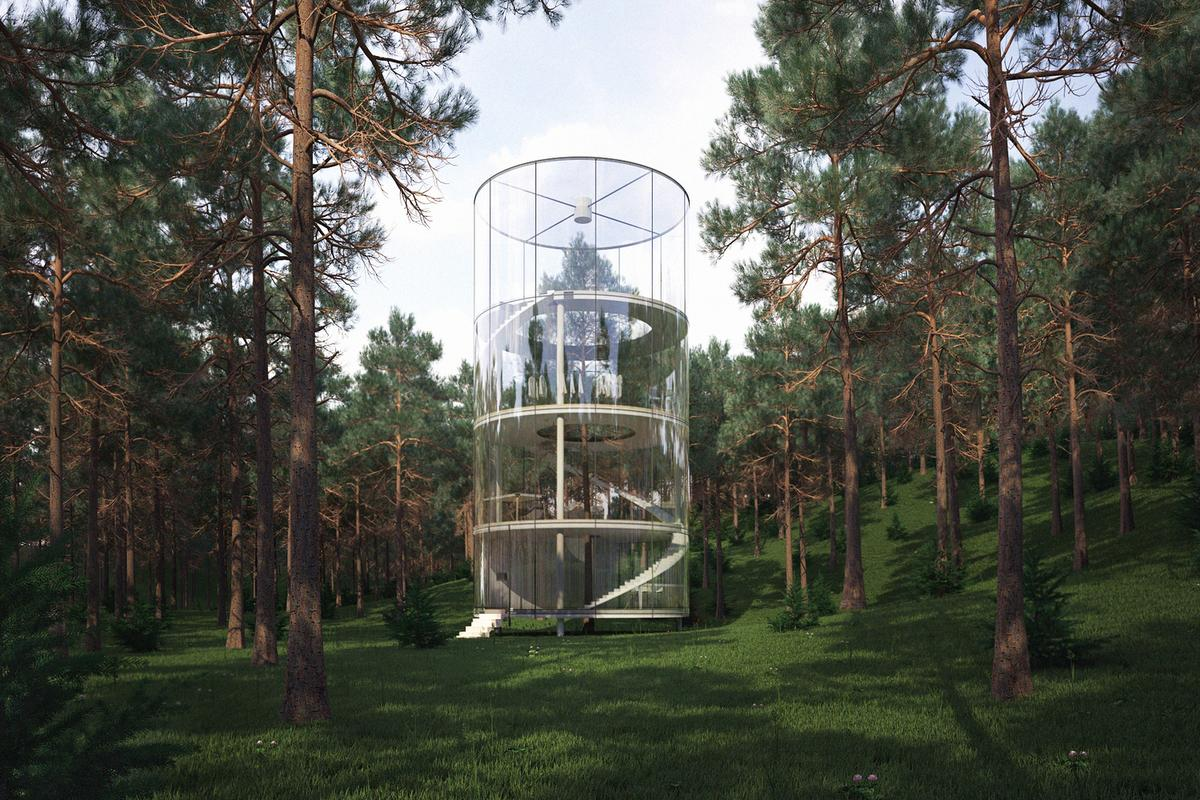 Tree in the house, by Kazakhstan-based architect and designer Masov Aibek (Image: A.Masow)