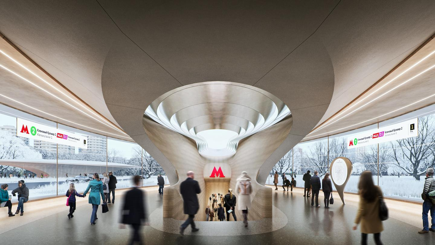 Klenoviy Boulevard Station 2 is slated for Moscow's Bolshaya Koltsevaya Line (Large Circle Line), which has been used by around 58 million passengers since opening in 2018