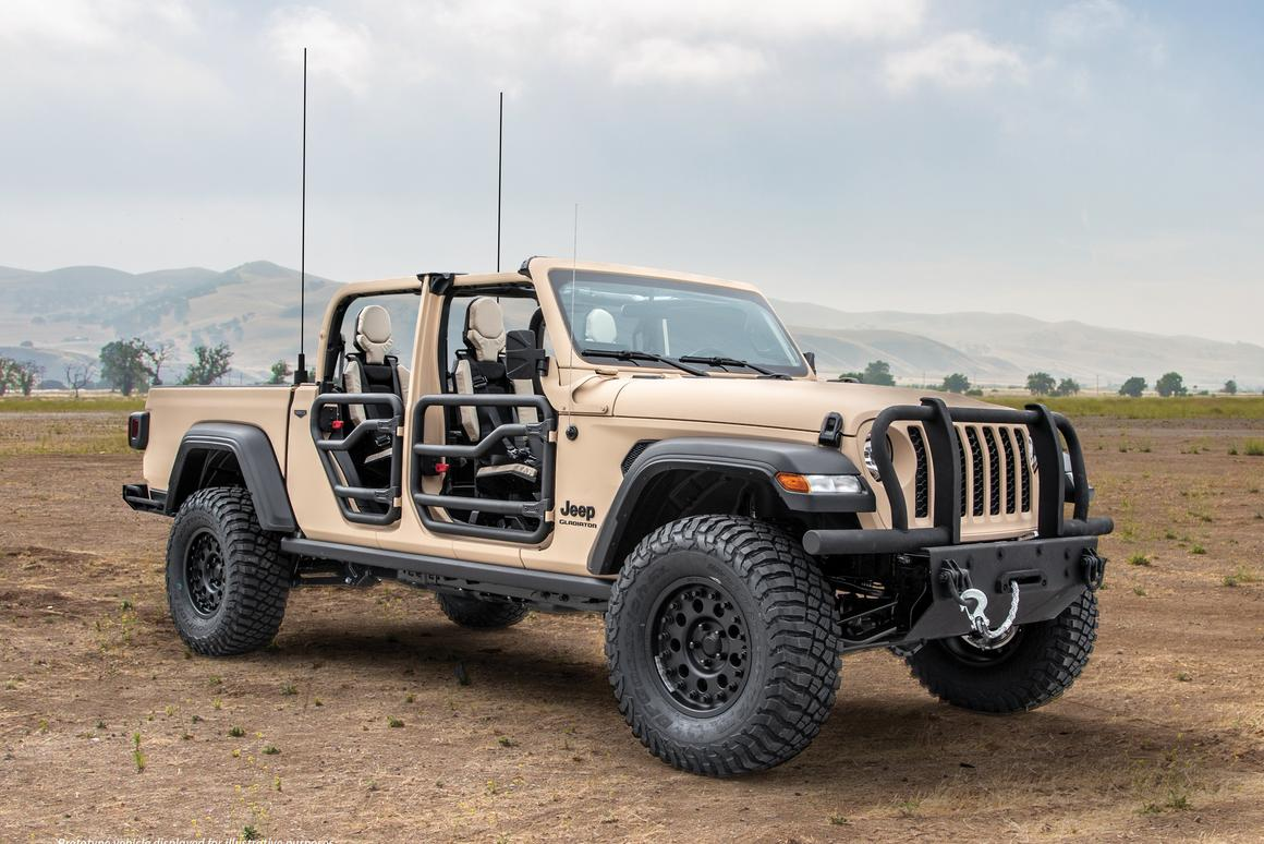 The AM General Jeep Gladiator XMT could go into production if the US military is interested