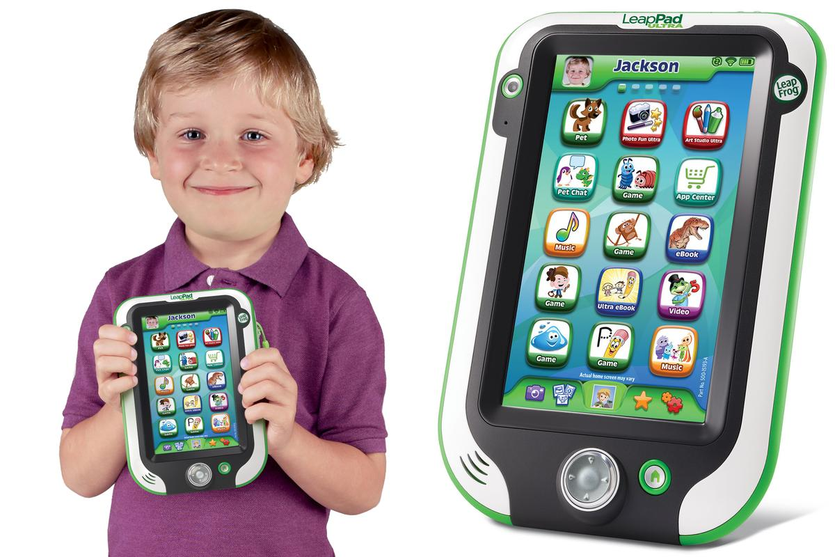 The new LeapPad Ultra from LeapFrog has a larger screen and looks more like a grown-up tablet