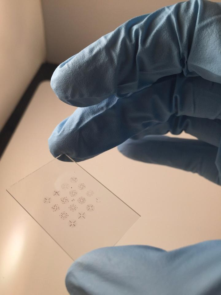 By using forests of carbon nanotubes, this stamp is able to print electronic inks onto flexible and rigid surfaces