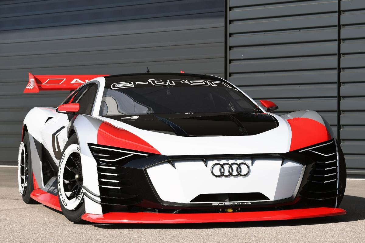 It's totally real and it's totally race-ready, the Audi e-tron Vision Gran Turismo will hit the Formula E circuit as a race taxi starting April 14, 2018