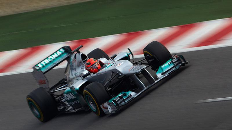 2012 Mercedes AMG Petronas F1 car