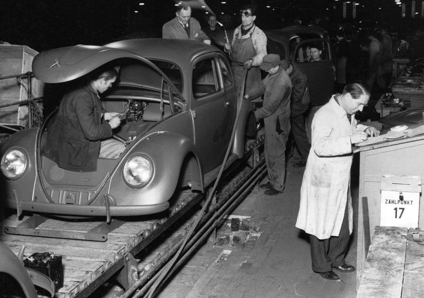 Серийное производство Volkswagen Beetle