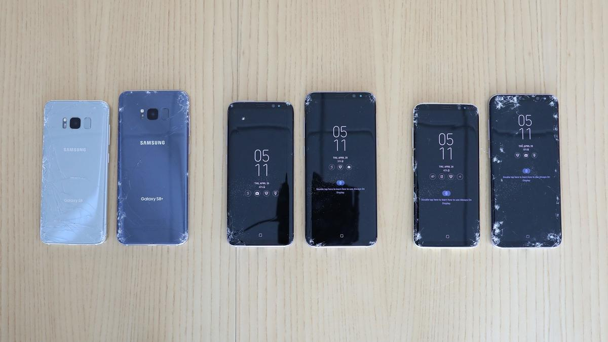 SquareTrade conducted a series of robot-controlleddrop and immersion tests on Samsung's Galaxy S8 series