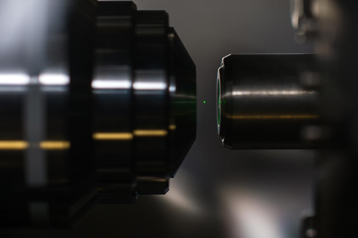 Levitating a nanodiamond with a laser could have implications for quantum computing (Photo: J. Adam Fenster/University of Rochester)