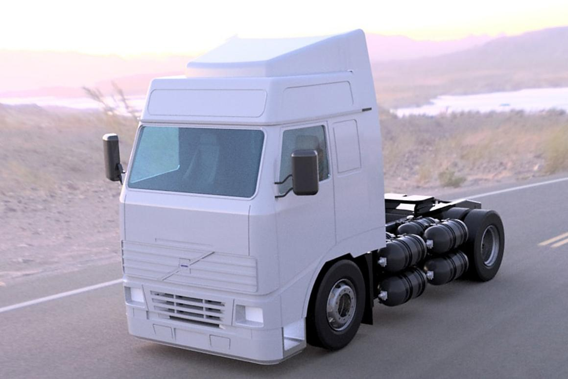 ULEMCo's modified Volvo truck burns hydrogen instead of gasoline for a zero-emission combustion powertrain