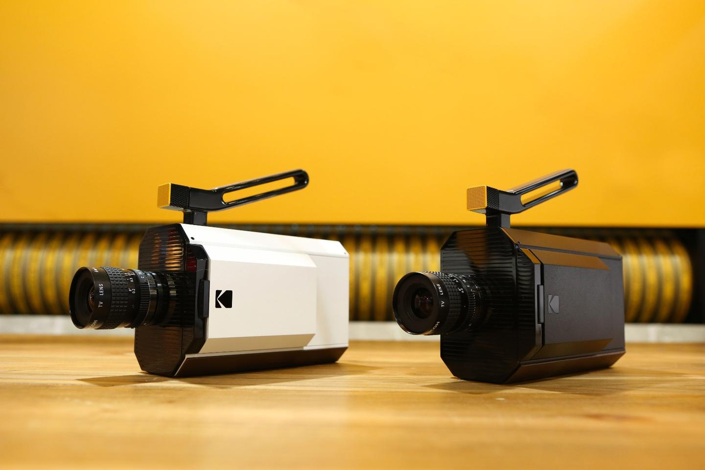 The Kodak Super 8 camera will be available in two colors – midnight black and bone china (off-white, in other words)