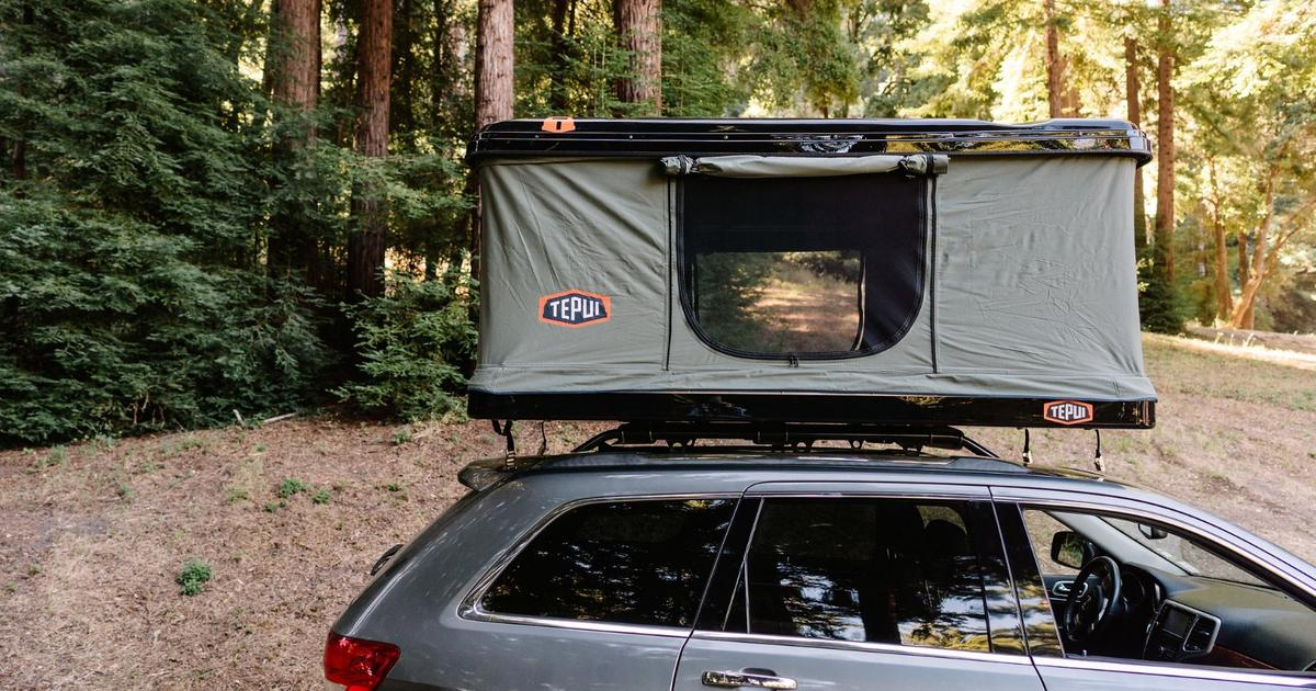 Tepui's vehicle cargo box moonlights as a roof-top tent