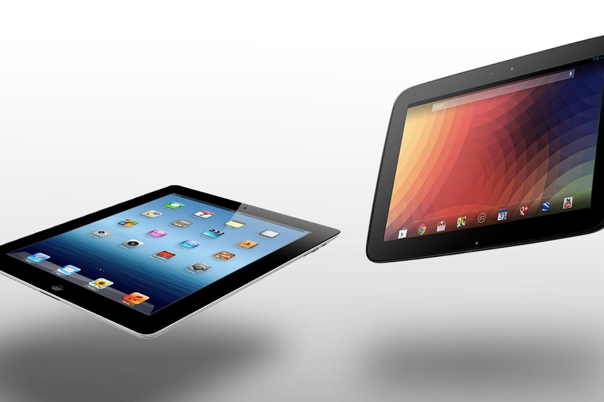 How does the Google/Samsung Nexus 10 compare to Apple's 4th-generation iPad?