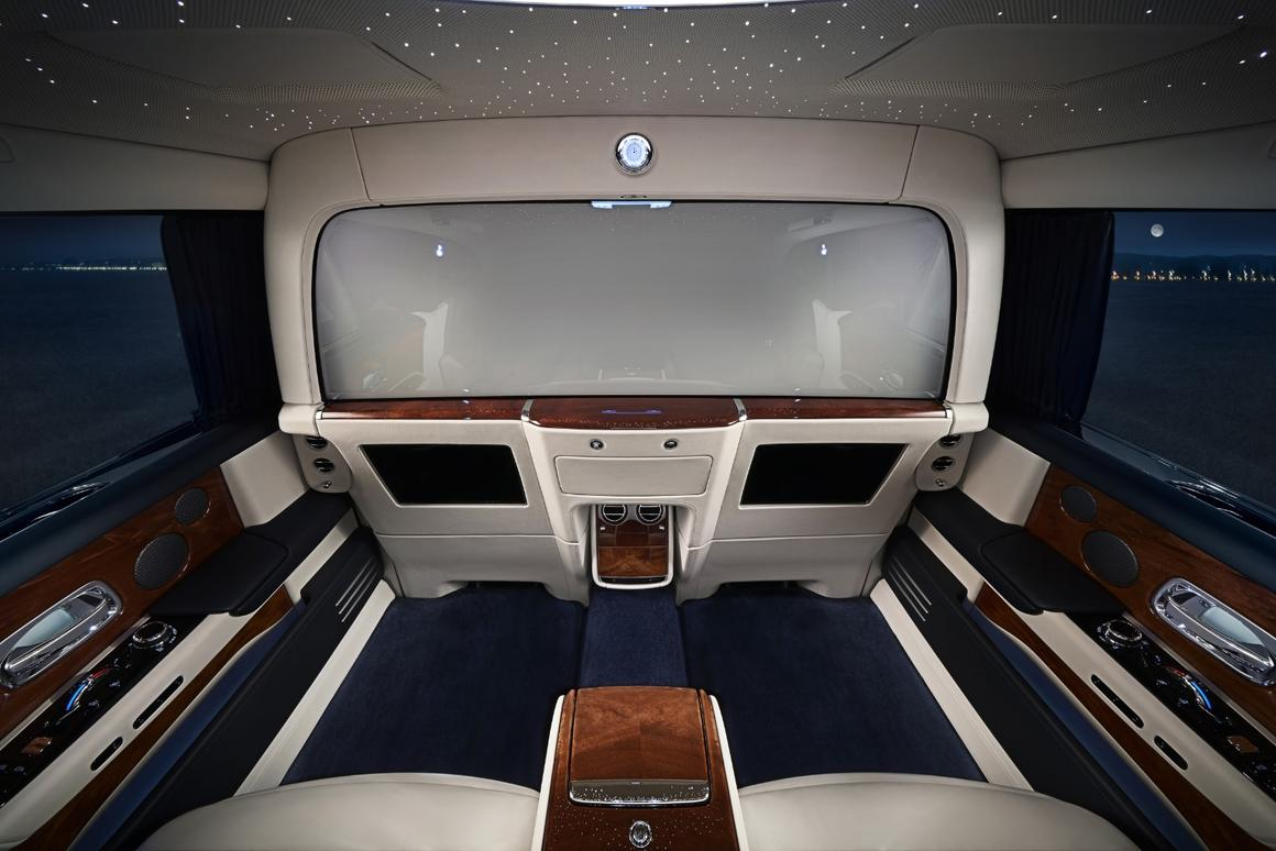 The Rolls Royce Privacy Suite, with the front window made opaque