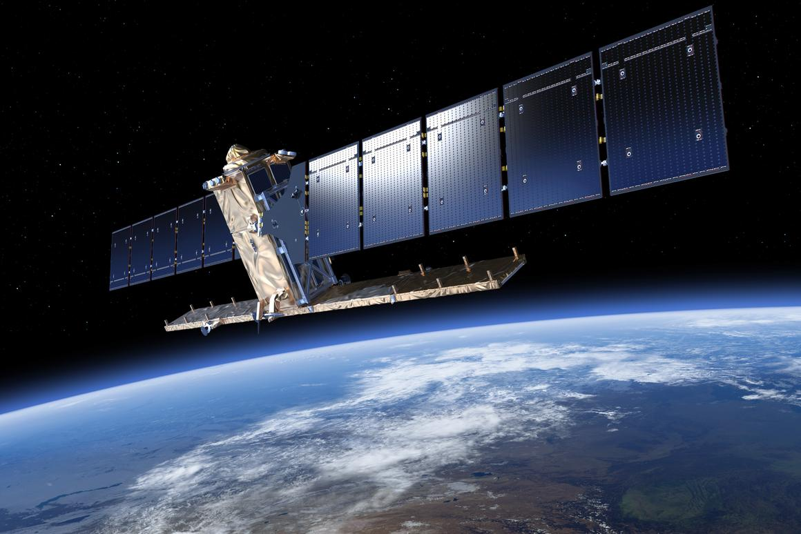 Artist's impression of Sentinel-1A in low-Earth orbit (Image: ESA/ATG medialab)