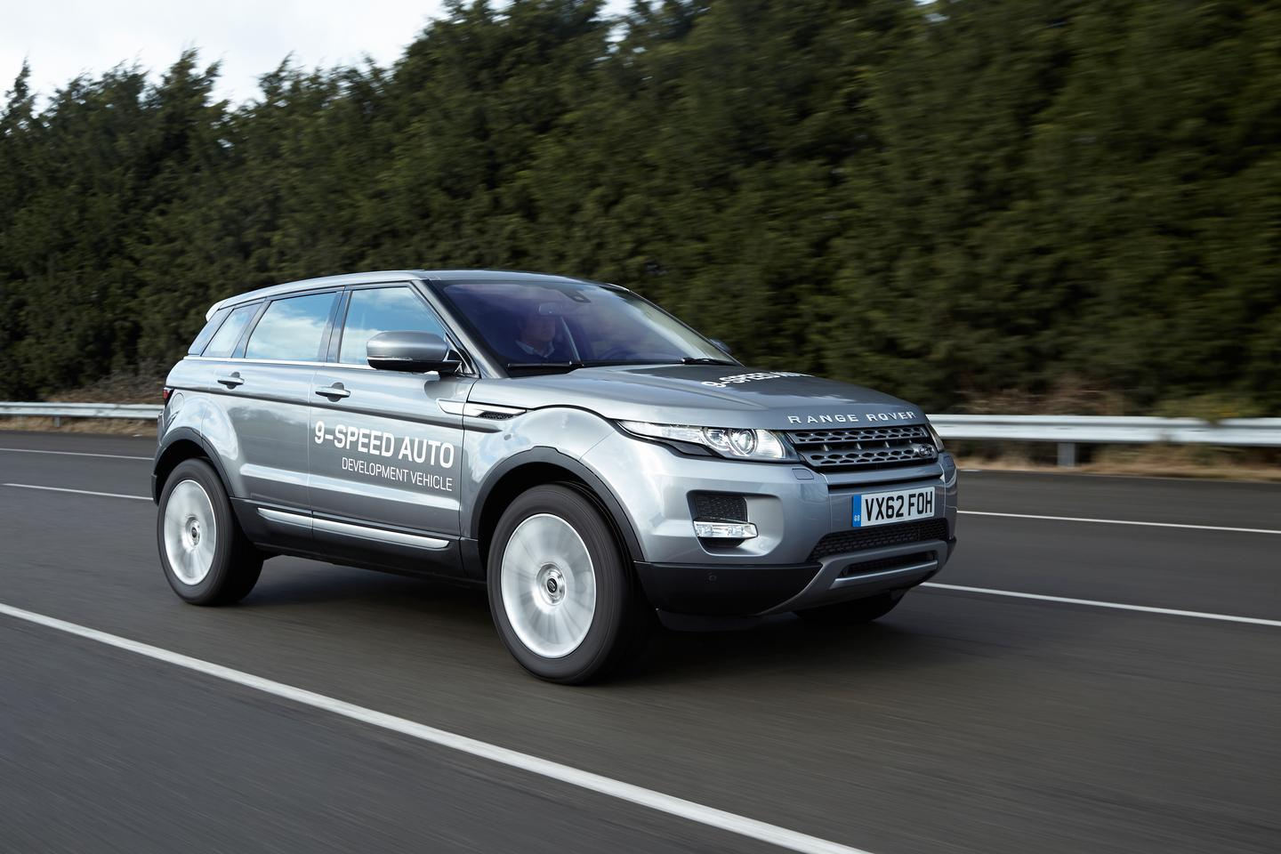 The Range Rover Evoque, with the world's first 9-speed gearbox