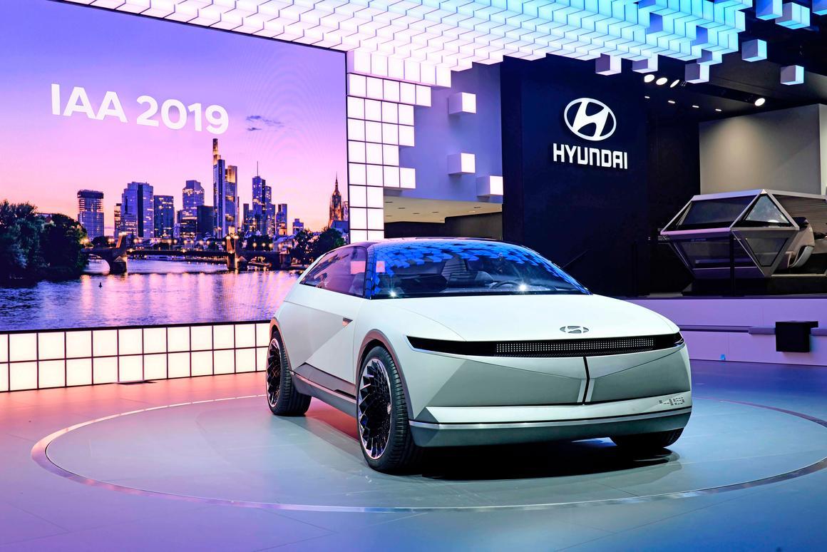 The 45 EV concept Hyundai unveiled at the 2019 Frankfurt Motor Show