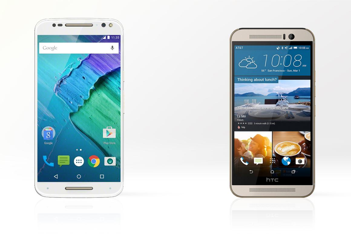 How do HTC and Motorola's 2015 flagships compare?