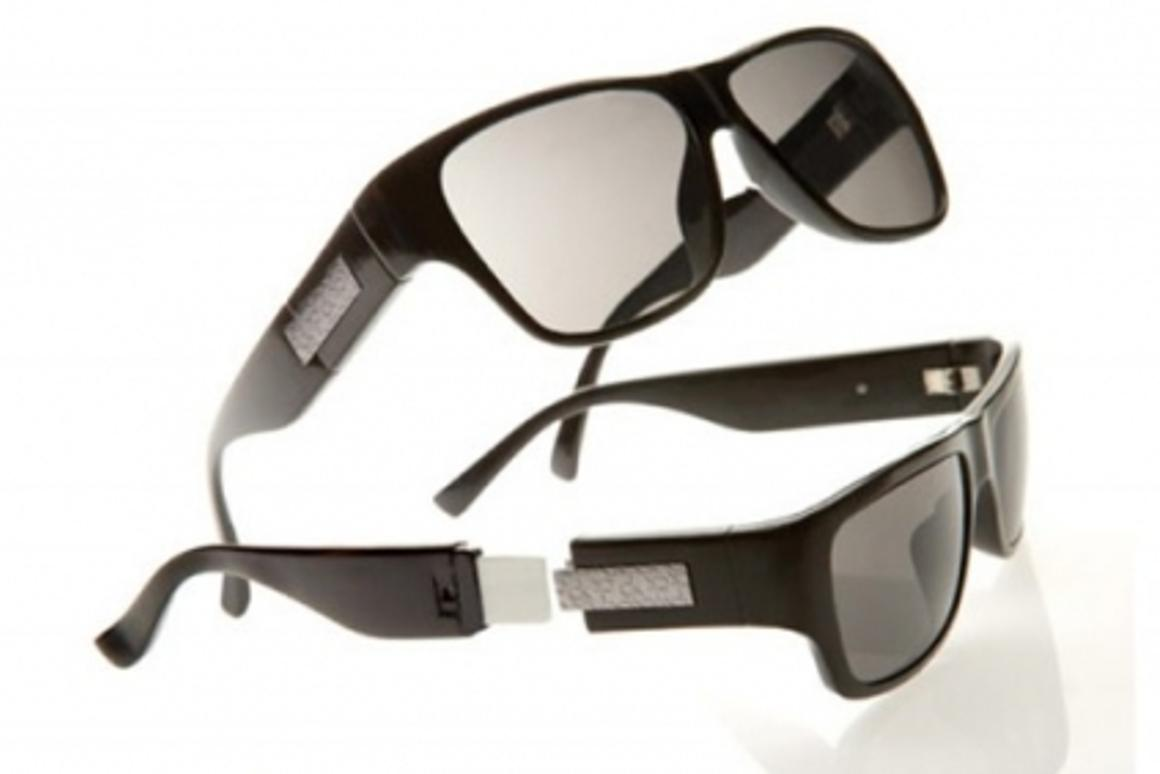 Pull the detachable arm off these ck Calvin Klein sunglasses and you'll find a 4GB USB flash drive